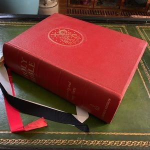 1404 pg 1950's Holy Bible Archbishop's Douay